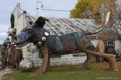 The Art Of Up-Cycling: Garden Sculpture Metal Garden Art Mans Best Friend-Dog Metal Art art animals Dog Sculpture, Outdoor Sculpture, Art Sculptures, Metal Yard Art, Metal Art, Wood Art, Garden Sculptures For Sale, Michigan, Junkyard Dog
