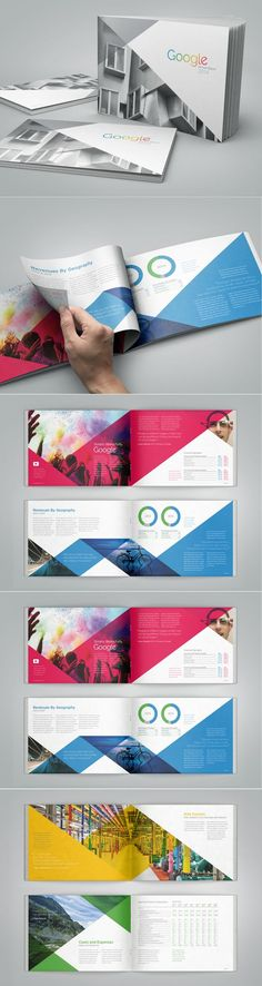 This annual report is really aesthetically pleasing while still staying true to what Google is all about. You can see the use of a grid, and the layout is really great overall.: