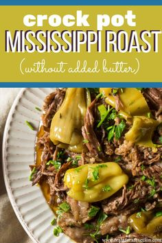 The best Mississippi Pot Roast recipe! Slow cooking Mississippi Pot Roast is one of my favorite keto crockpot recipes it couldn't be easier! If you're looking for a simple family dinner meal look no further than this delicious low carb slow cooker recipe! Keto Crockpot Recipes, Pot Roast Recipes, Slow Cooker Recipes, Dinner Recipes, Cooking Recipes, Healthy Recipes, Slow Cooking, Crockpot Meals, Freezer Meals