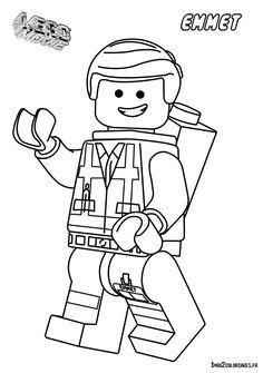 coloriage bonhomme lego