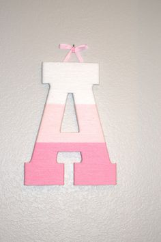 Yarn Wrapped Letters, Yarn Letters, Hanging Letters, Diy Letters, Letter A Crafts, Wooden Letters, Diy Arts And Crafts, Yarn Crafts, Diy Crafts To Sell