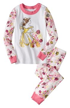 292c6278ad Hanna Andersson  Disney Princess - Belle  Two-Piece Fitted Pajamas (Toddler  Girls)