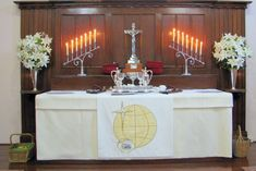 Images Pentecost, Altar, Buffet, Table Decorations, Cabinet, Storage, Furniture, Home Decor, Clothes Stand