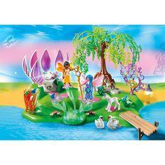 Playmobil Wróżki Wyspa wróżek z magicznym źródłem kamieni szlachetnych, 5444, klocki