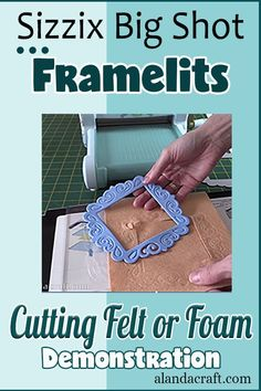 Can you cut Felt or Foam with the Sizzix Big Shot Framelits? We put our Sizzix Big Shot to the test and in our video, we share the result with you. Upcycled Crafts, Sewing Crafts, Big Shot, Crafts For Teens, Fun Projects, Diy Gifts, Christmas Crafts, Easy Diy, Shots