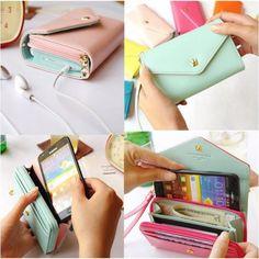 Fashionable Multifunctional Envelope Wrislet Wallet