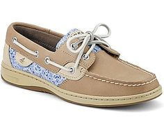 Sperry top sider boat shoes: Linen / Blue Floral Sequin