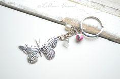 Schlüsselanhänger - ✼ Nostalgischer Schmetterling ✼ Schlüsselanhänger - ein Designerstück von LiAnn-Versand bei DaWanda