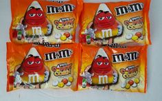 M&M's Candy Corn White Chocolate Candy 8 oz 4 Bags Limited Edition  #MMsMars