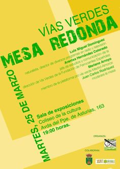 Mesa redonda Vías Verdes 2014. Villavicosa de Odón