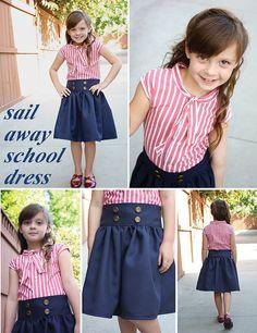 DIY Sailor Top & Skirt Tutorial