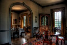 Stratford Hall's dining room is currently undergoing redecoration. I'll post a new photo when it is done.