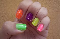 Cute Nail Designs For Short Nails Nail Art Designs Nail Art Cute, Cute Nail Polish, Cute Nail Art Designs, Short Nail Designs, Simple Nail Designs, Nail Polish Designs, Cute Nails, Pretty Nails, Rainbow Nails
