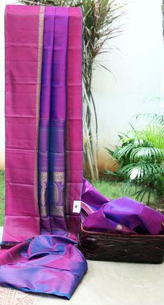 Lakshmi Handwoven Kanjivaram Silk Sari 000537 - Sari / Kanjivarams - Parisera