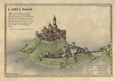Another castle I drew earlier this summer, just to practice the style. Traditionally hand drawn and then colored in PS.