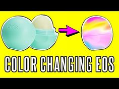 DIY EOS COLOR CHANGING LIP BALM! HOW TO MOOD RING EOS | rosaliesaysrawr - YouTube