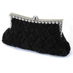 Poseta de ocazie Crystal - GE0100 www.outfit-online.ro  Ideala pentru noaptea dintre ani si ocazii speciale! Black Clutch Bags, Fashion Bags, Womens Fashion, Black Crystals, Evening Bags, Belt, Elegant, Casual, Clutches