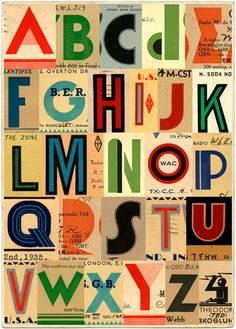There's one thing every nursery needs - an alphabet poster. Here are our picks of the best alphabet art for the nursery wall from Etsy. Typography Letters, Typography Design, Food Typography, Typography Quotes, Vintage Lettering, Hand Lettering, Alphabet Print, Alphabet Design, Alphabet Party