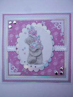 Handmade Tatty Teddy Birthday Card