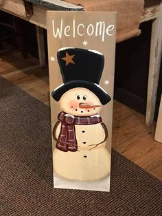 I have designed and painted this snowman board with a tan background. It will be a nice accent for your winter and Christmas home decor. You can set it and lean it against something or request a hanger to hang. Measures approx 11.5 x 30 high MADE TO ORDER ITEM