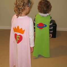 No Sew Superhero Capes from T-shirts by Gail Made, via Flickr