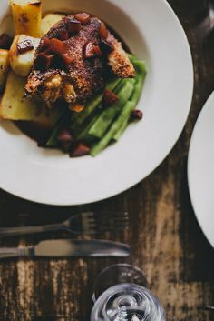 Crispy Chicken & Plums, The Winding Stair by Beth Kirby | {local milk}
