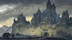 Art about fantasy, steampunk, comics, sci-fi and other lands of dreams. Fantasy City, Fantasy Castle, Fantasy Places, High Fantasy, Medieval Fantasy, Fantasy World, Fantasy Artwork, Fantasy Concept Art, Fantasy Landscape