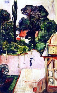 The Lonely Ones ( Garden in Taarbæk) - Edvard Munch 1905 Norwegian 1863-1944