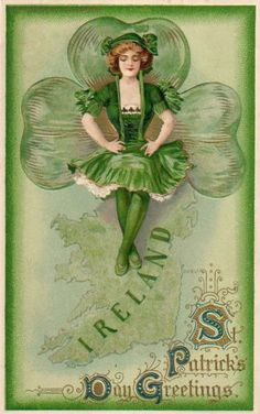 Vintage St. Patrick's Day Card! Cute invite to a #StPatricksDay #girlsnight.