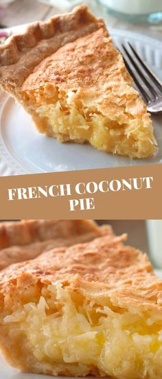 Coconut Recipes, Baking Recipes, Cake Recipes, Dessert Recipes, Coconut Pie Recipe Easy, Vegan Recipes, Easy Desserts, Delicious Desserts, Yummy Food
