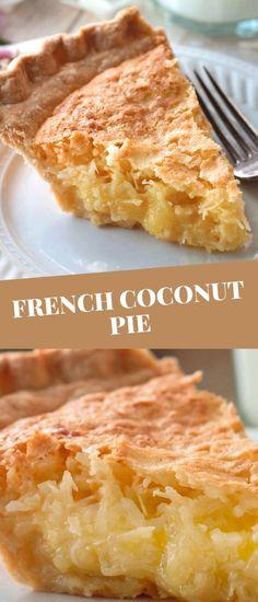 Coconut Recipes, Baking Recipes, Cake Recipes, Dessert Recipes, Coconut Pie Recipe Easy, Best Coconut Cake Recipe Ever, Healthy Pie Recipes, Philipinische Desserts, Delicious Desserts