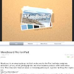 Great iPad App for making mood boards and starting new projects