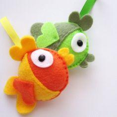 free felt ornament patterns | PDF Sewing Pattern- DIY Felt Fish - Felt Fish Ornament A199 ...