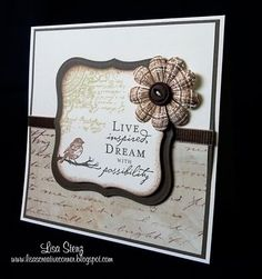 Still one of my favorite stamp sets ever....from Lisa's Creative Corner.