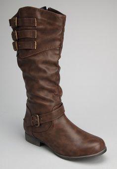 Chocolate Buckle Boot