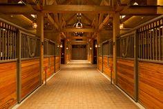 Rocky Mountain Horse Barn by Three Elements Timberworks, via Behance