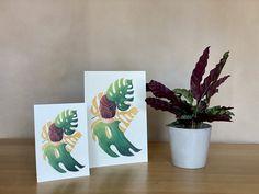 Monstera love - botanical illustration / poster / plant lady / plant print / houseplant Plant Illustration, Botanical Illustration, Plant Art, All Poster, Begonia, Botanical Prints, Beautiful Artwork, House Plants, Illustrations Posters
