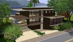Modern House Plans Sims 3 Projects to Try Pinterest Sims