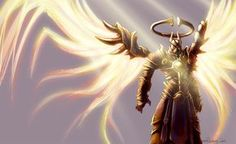 """""""Imperius"""" The Archangel Of Valor and Commander of the Angiris Council, from the """"Diablo"""" series by Blizzard Entertainment Video Games Posters"""