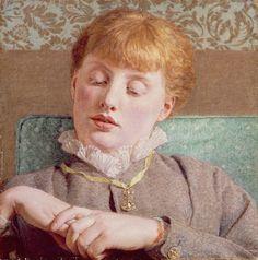 A Girl. Albert Joseph Moore (British,1841-1893).