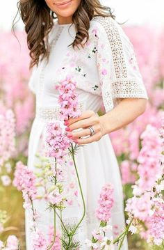 Fine Art portrait photography at The Real Flower Petal Confetti Field. Spring Photography, Portrait Photography, Real Flowers, Pink Flowers, Pink And Green, Purple, Pink Garden, Spring Is Coming, Everything Pink