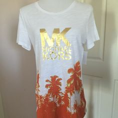 NEW ARRIVAL Michael Kors Top Color: white and mandarin orange. 100% cotton. Perfect for spring and summer getaway. Michael Kors Tops