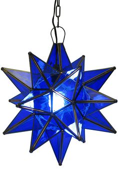 Blue Glass Star - front porch light  #Mexico #interiordesign #lighting