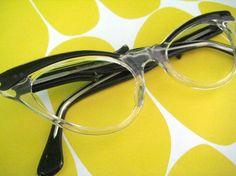 ea42d32702a Nerdy Kitten Cat sEye Glasses vintage eyeglass by goodcitizenHQ