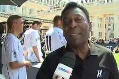 Pelé pede calma após goleada no  Haiti e diz ser preciso esquecer o 7 a 1 #sportv