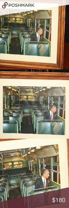 Timeless President Obama Picture Former President Obama sitting on the bus previously used by Rosa Parks during the Civil Rights Movement. Other