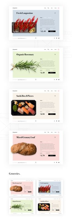 A range of eCommerce Website Templates, designed to suit a range of online stores.