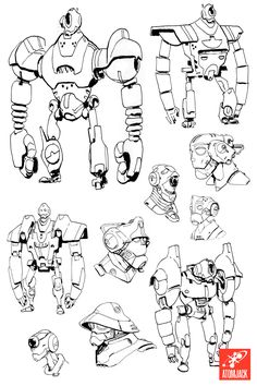 Great 'bot sketches from Atomic Jack Games!