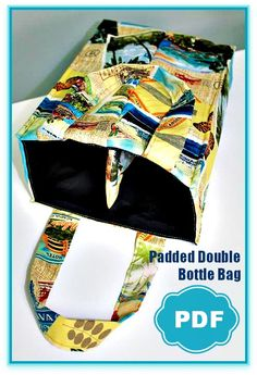Padded Double Bottle Tote + Threading Your Serger - Overlock Machine