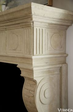 The Family Roomu0027s Limestone Mantelpiece By François U0026 Co. Was Inspired By  An Antique Fireplace